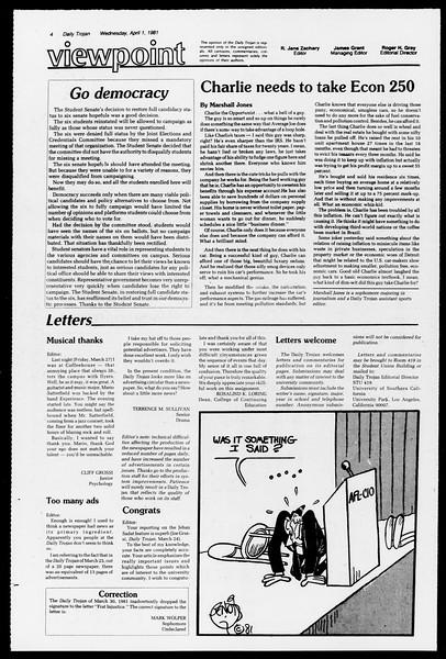 Southern California Magazine, Vol. 1, No. 1, April 01, 1981
