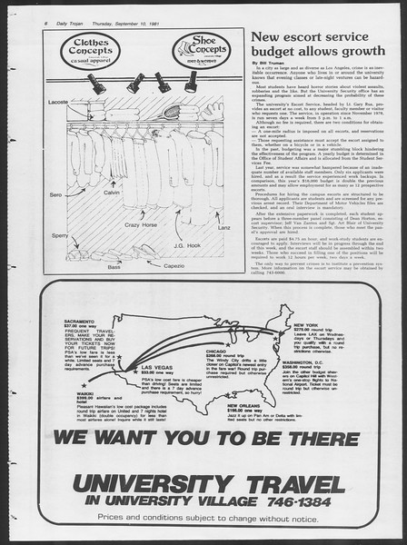 Daily Trojan, Vol. 91, No. 7, September 10, 1981