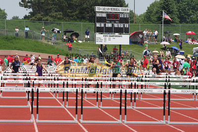 Boys and Girls Hurdles by Pat - 2011 MHSAA LP T&F Finals Division 1