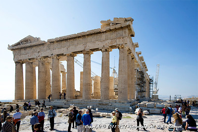 The Parthenon temple on the Athenian Acropolis in Athens Greece