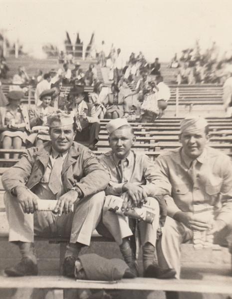 Unknown men with Ellis Sullivan (far right) - circa 1944.jpg