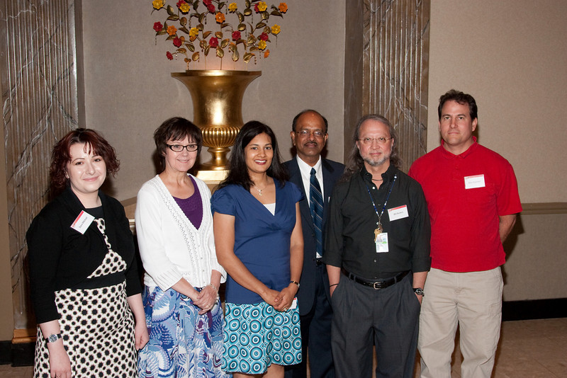 5 years of service : Sara Mitchell, Rita Clark, Sharmain Ali, Swami Reddy, Bill Burton, Eric Scanlan -- SP Systems, Inc Fourth Annual Business Meeting & Luncheon, Greenbelt, MD