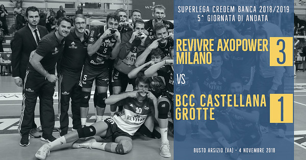 5^ And: Revivre Axopower Milano - BCC Castellana Grotte