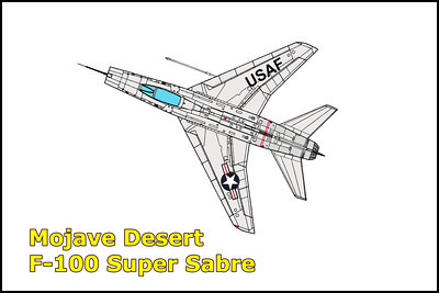 Mojave Desert F-100 Super Sabre 12/24/11