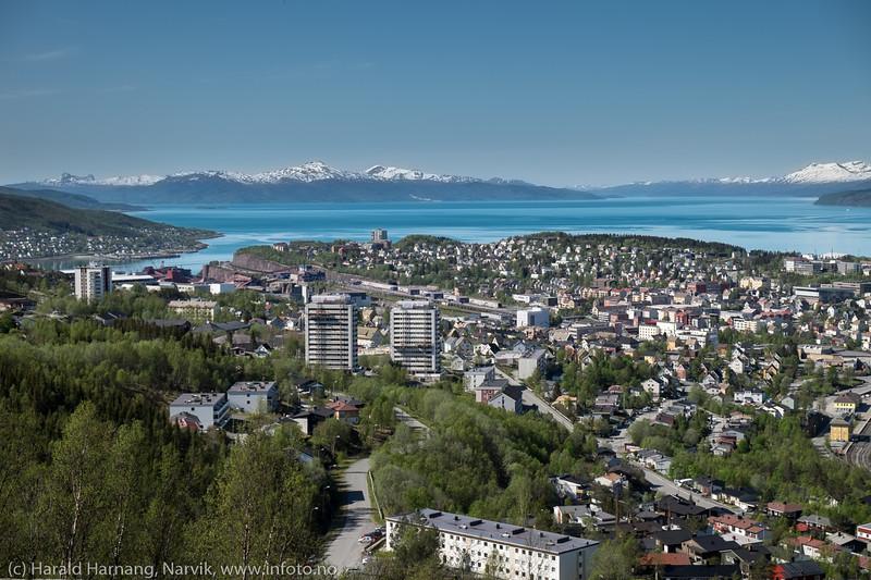 Narvik fra minikraftverket i Tøttadalen, 27. mai 2016