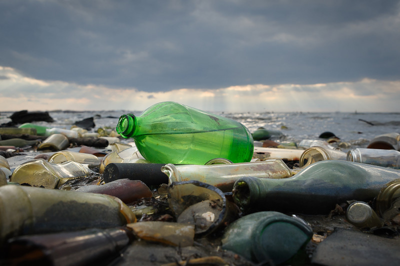 Bottle beach at Dead Horse Bay, Brooklyn US