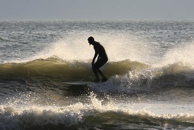 Lone WInter Surfer