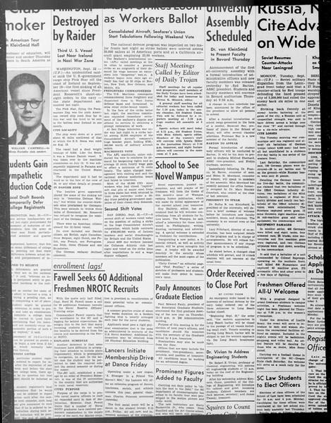 Daily Trojan, Vol. 33, No. 14, September 22, 1941