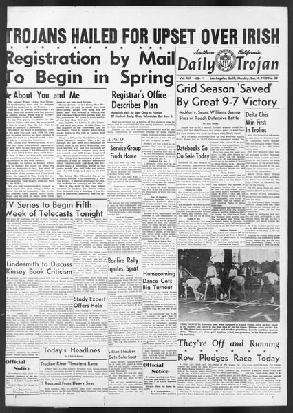 Daily Trojan, Vol. 42, No. 53, December 04, 1950