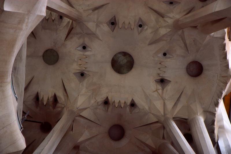 Ceiling shot of Sagrada familia