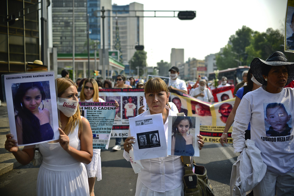 . Mothers take part in a protest in Mexico City on May 10, 2013. A group of mothers and relatives of children missing due to the drug war in the country, demand to the Government the investigation of the crimes. Ronaldo Schemidt/AFP/Getty Images