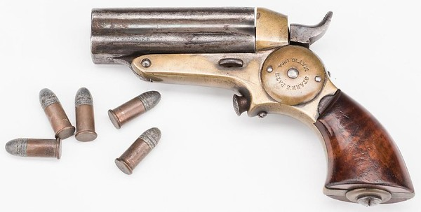 Starr Four Barrel Pepperbox Pistol, maker Merrill Patent Firearms Mfg Co) 3