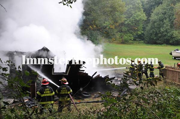 EAST NORWICH FD RTE 106 BARN FIRE 9-27-12