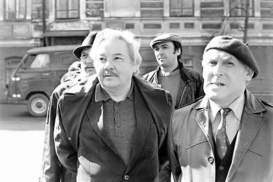 Открытие мемориальной доски народный артист Х. Абжалилов и Ф. Ильская апрель 1988г