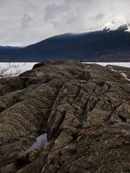 The glacier-scrapped rocks near the glacier center, April 2nd (again).