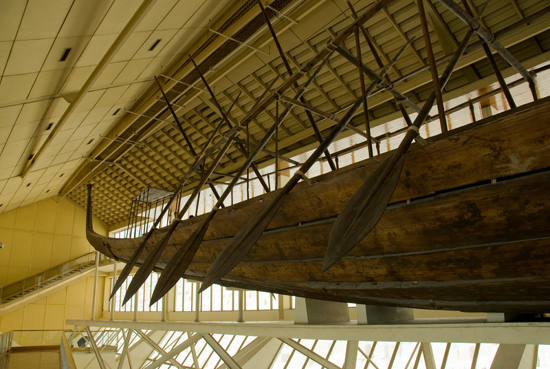 The rows on side of the boat at Boat Museum - Giza, Egypt