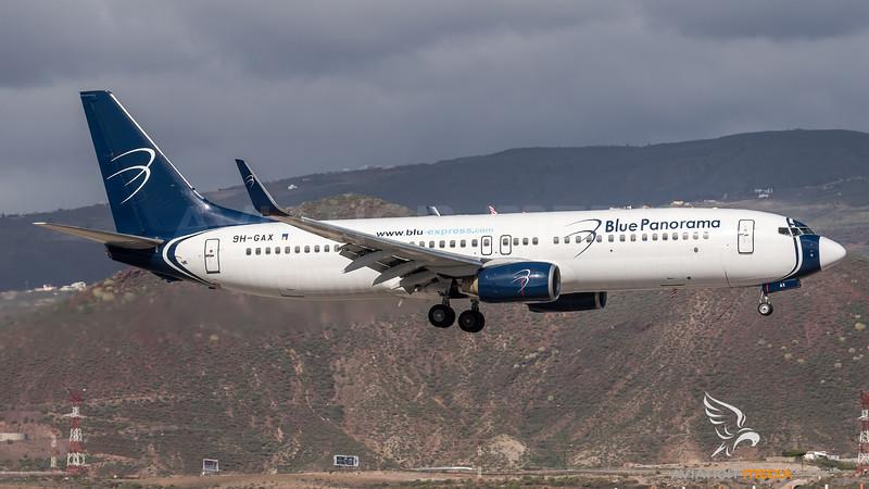Blue Panorama / Boeing B737-8Z0 / 9H-GAX