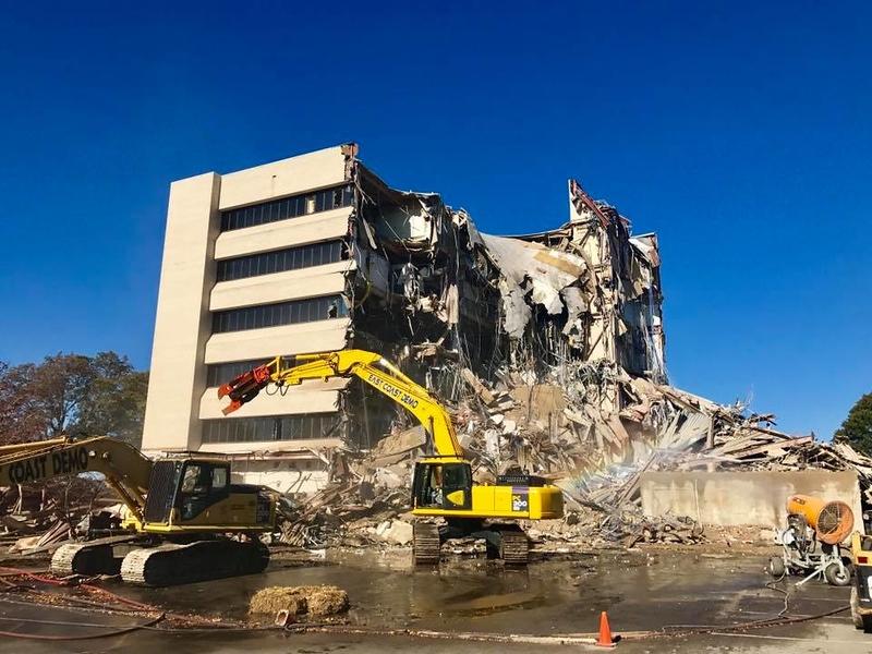 NPK M28K material processor on Komatsu excavator - commercial demolition - East Coast Demolition (4).jpg