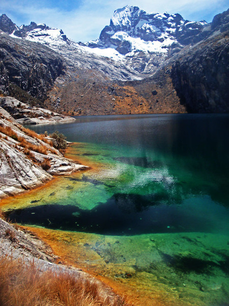 These lakes are famous for their vivid colours.