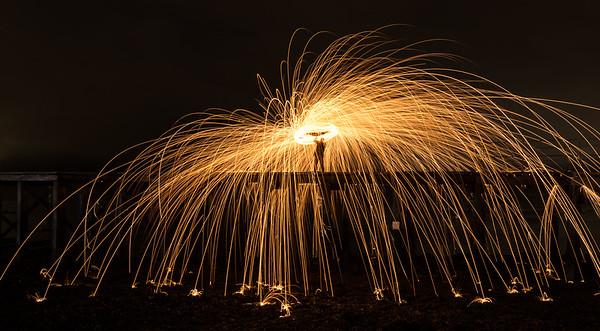 Steel Wool Spinning at Newark Castle