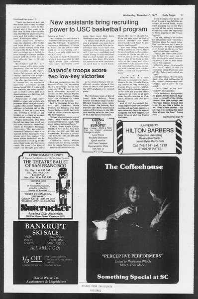 Daily Trojan, Vol. 72, No. 52, December 07, 1977