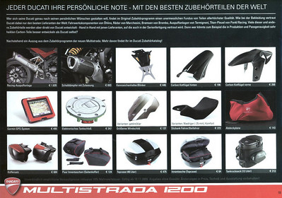 Official Ducati Multistrada (DP) Accessories & Parts