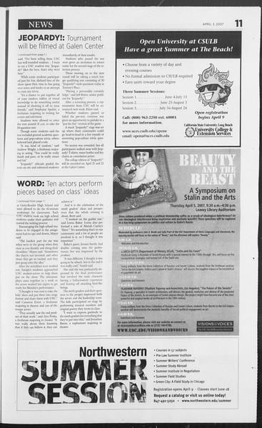 Daily Trojan, Vol. 160, No. 50, April 03, 2007