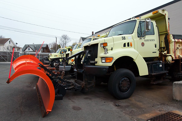 11/15/18 Wesley Bunnell | Staff New Britain Public Works trucks were being prepped and loaded with salt in anticipation of the upcoming winter storm schedule to hit New England Thursday evening into Friday.
