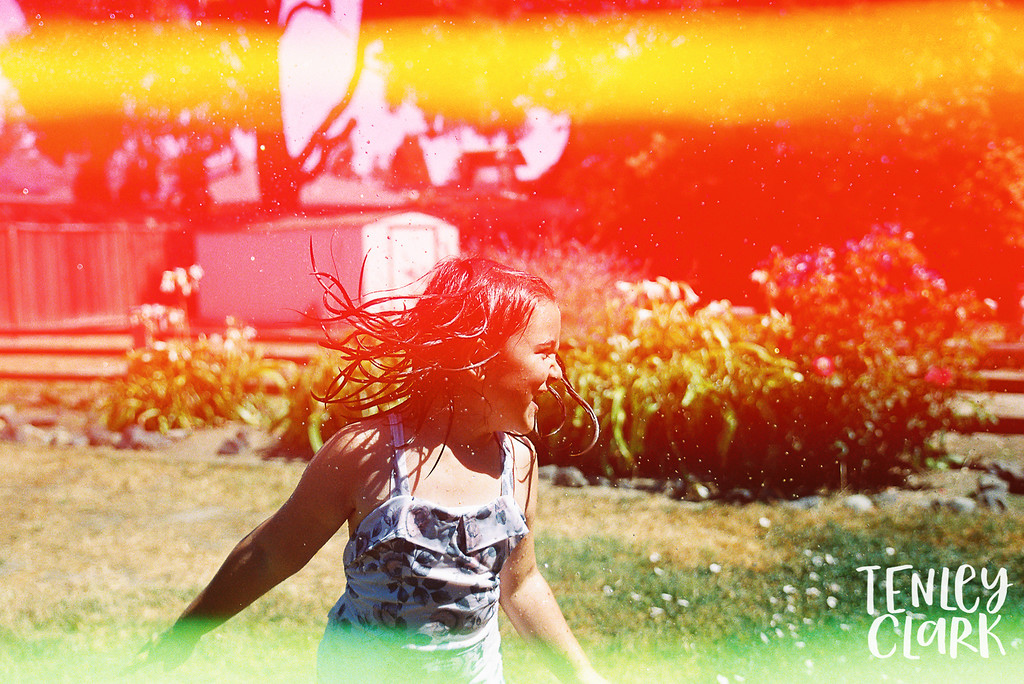 Psychedelic blues film. Lifestyle in home family photography session in Fremont, CA by Tenley Clark Photography.