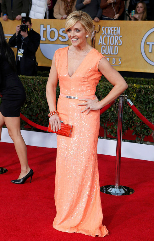 """. Actress Jane Krakowsky of the TV comedy \""""30 Rock\"""" arrives at the 19th annual Screen Actors Guild Awards in Los Angeles, California January 27, 2013.  REUTERS/Adrees Latif"""