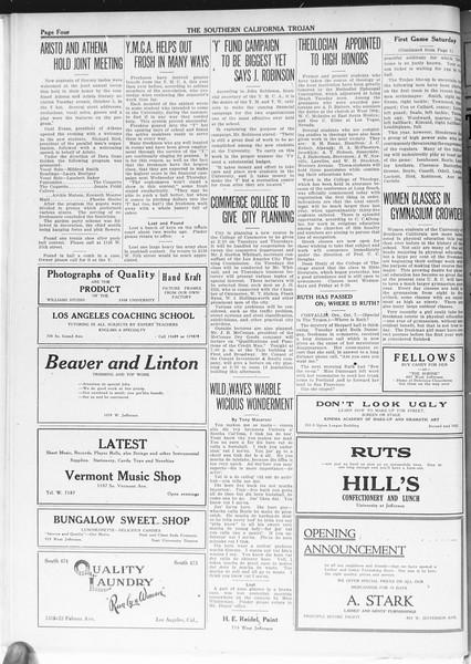 The Southern California Trojan, Vol. 12, No. 8, October 07, 1920