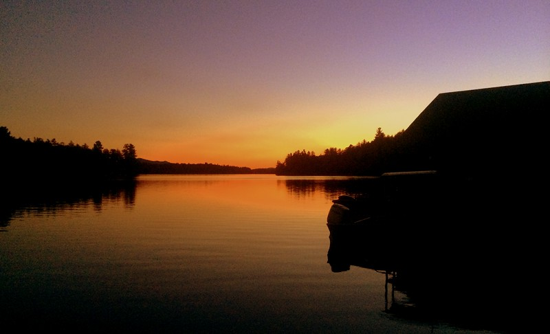 9.25.2015.Sunset , first day of autumn - Ampersand Bay, Lower Saranac Lake, sep 23, 2015.a.JPG