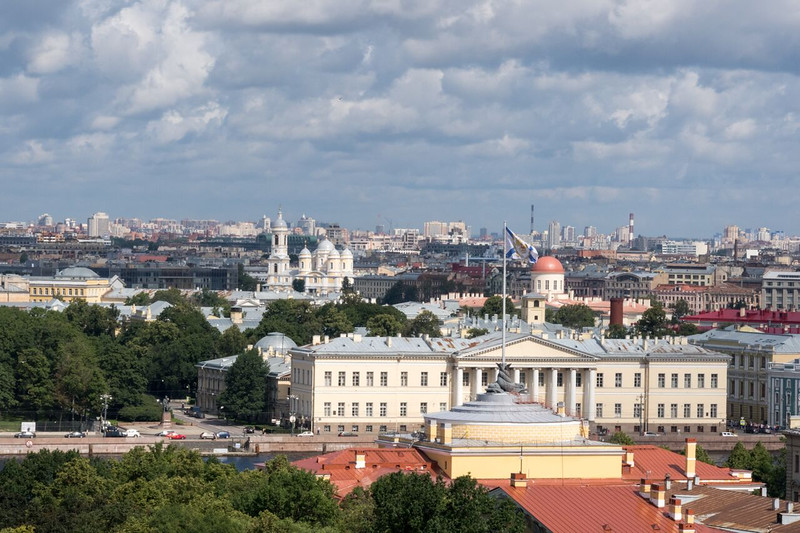 View of St. Petersburg from St. Isaac's Dome.