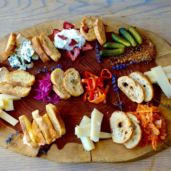 cheese tray at the Garden Table in Indianapolis