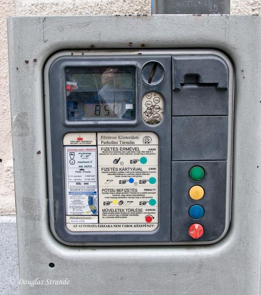Budapest parking kiosk