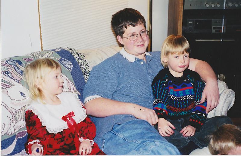 Jeff, Drew, Breanna - Xmas 1998