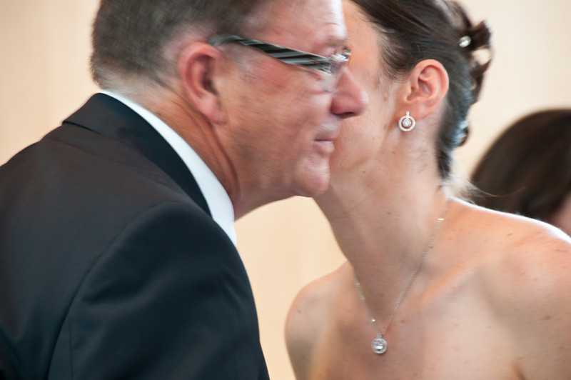 A kiss for her father