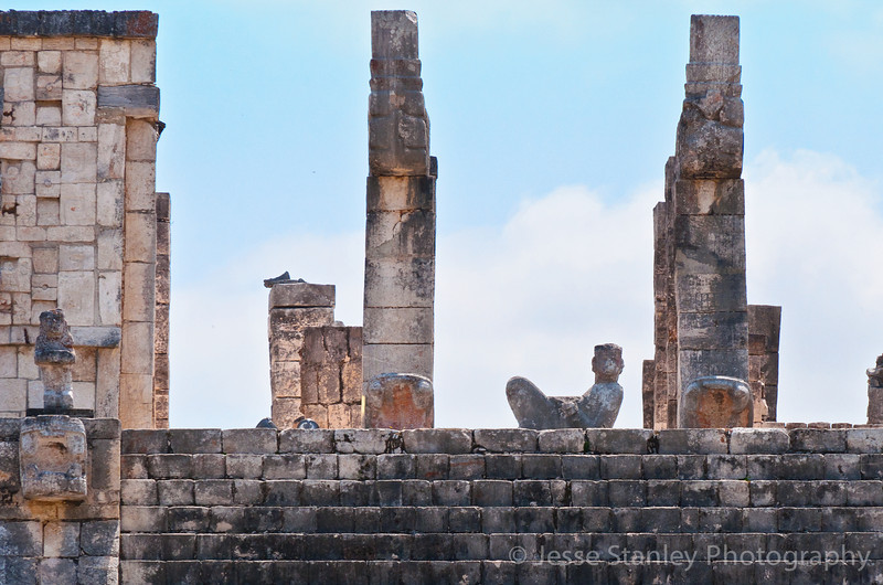 The Chac-Mool statue on top of The Temple of the Warriors, Chichen Itza