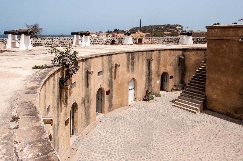Inside Fort D'Estrees in Dakar, Senegal