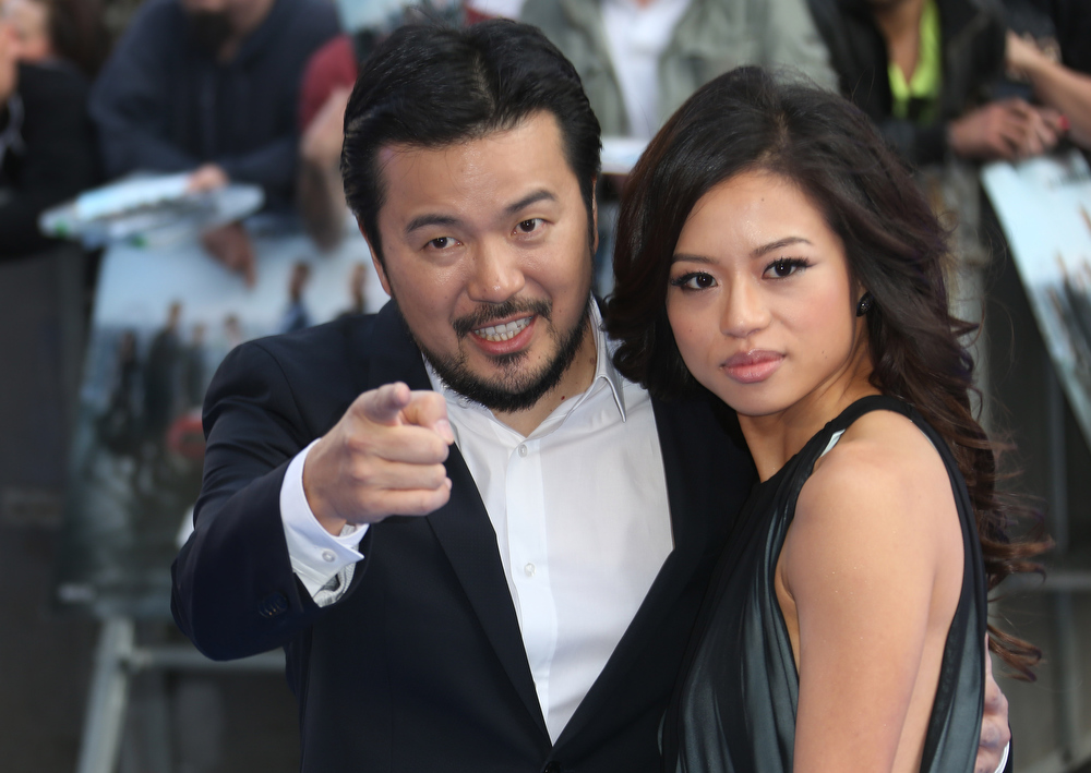. Director Justin Lin and guest arrive for the World Premiere of Fast & Furious 6, at a central London cinema in Leicester Square, Tuesday, May 7, 2013. (Photo by Joel Ryan/Invision/AP)