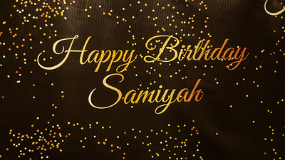 HAPPY BIRTHDAY SAMIYAH