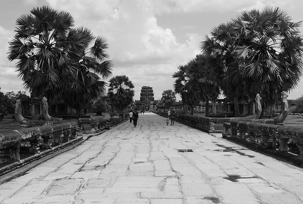 Walkway out of Angkor Wat