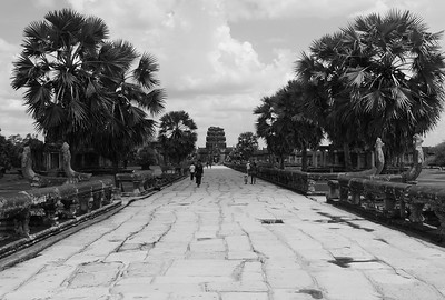 Walkway out of Angkor Wat