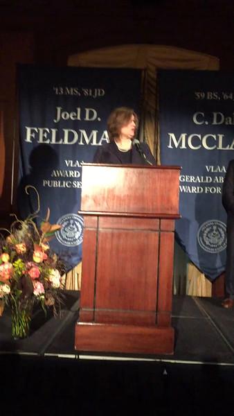 Villanova Law School Public Service Award to Joel D. Feldman April 2016