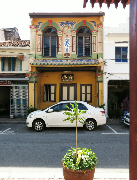 A house across the street from Sri Poyatha Moorthi Temple, Harmony Street.