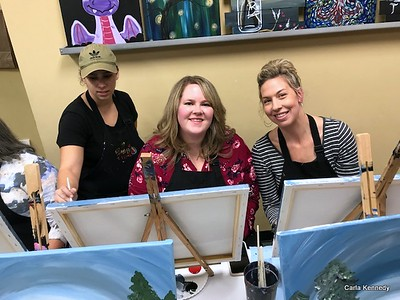 2018 12-09 Painting with a Twist Retirement Party