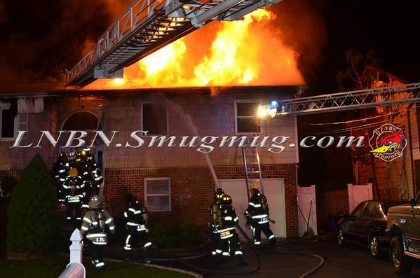 East Farmingdale [South Farmingdale F.D. Covering] House Fire 54 County Line Road 5-18-14