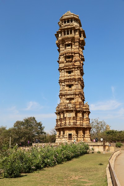 Vijay Stambh (Tower of Victory) called the symbol of Chittor was erected by Rana Kumbha between 1458 and 1468 to commemorate his victory over Mahmud Shah I Khalji, the Sultan of Malwa, in 1440 AD