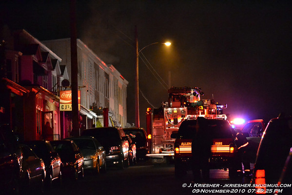Lehigh County - City of Allentown - 3 Alarm Dwelling Fire - 11/9/2010