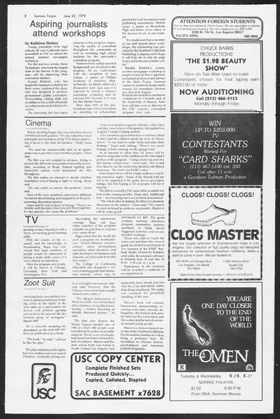 Summer Trojan, Vol. 77, No. 3, June 22, 1979
